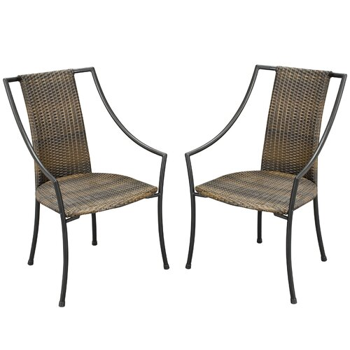 Home Styles Laguna Slope Dining Arm Chairs with Cushions