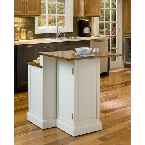 Home Styles Woodbridge Kitchen Island Set with Wood Top