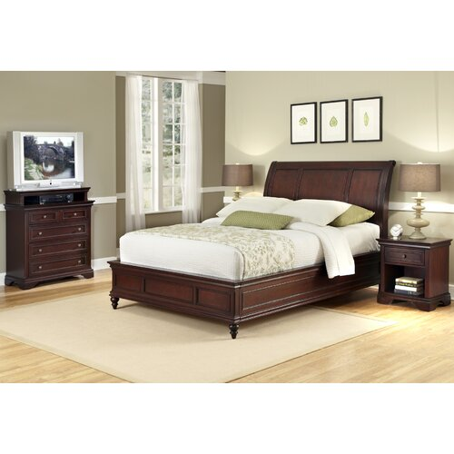 Home Styles Lafayette 3 Piece Sleigh Bedroom Collection