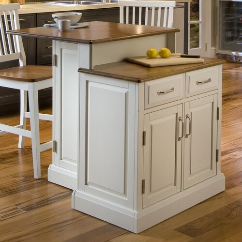 Home Styles Woodbridge Kitchen Island Set with Wood Top & Reviews