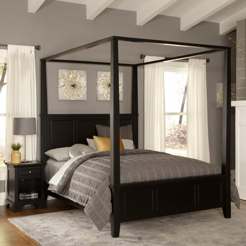 home styles bedford canopy 2 piece bedroom collection