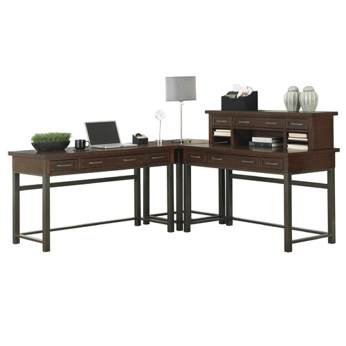 Home Styles Cabin Creek L-Shape Writing Desk Office Suite
