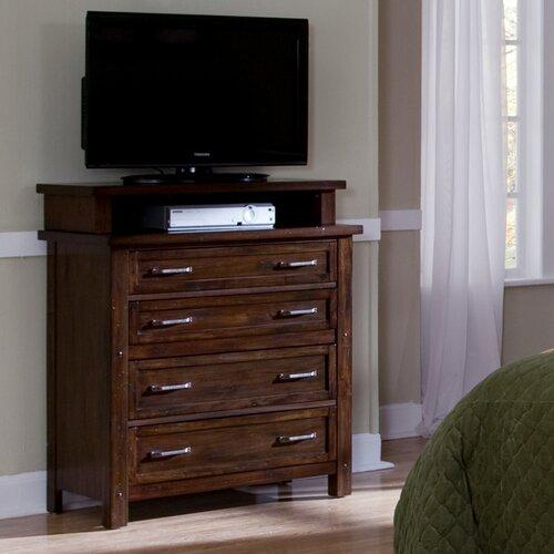 Home Styles Cabin Creek 4 Drawer Media Chest & Reviews | Wayfair