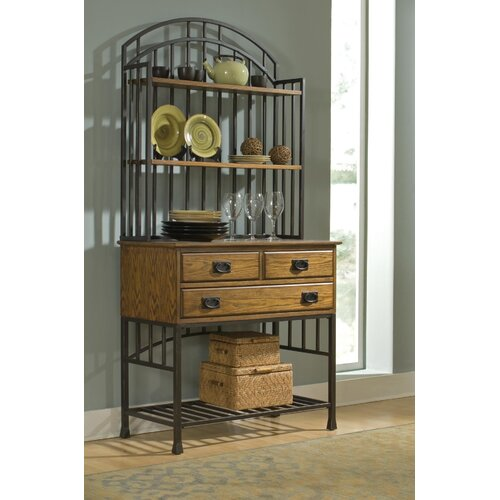 Home Styles Oak Hill Storage Baker's Rack