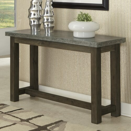 Concrete Chic Console Table