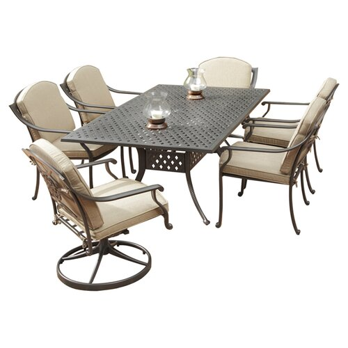 Home Styles Covington 7 Piece Dining Table Set with Cushions