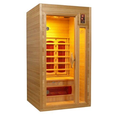 dynamic infrared 1 2 person ir ceramic far infrared sauna reviews wayfair. Black Bedroom Furniture Sets. Home Design Ideas