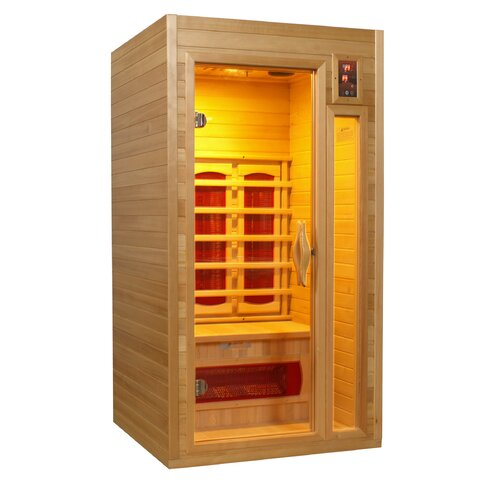 dynamic infrared 1 2 person ir ceramic far infrared sauna reviews wayfair. Black Bedroom Furniture Sets. Home Design Ideas