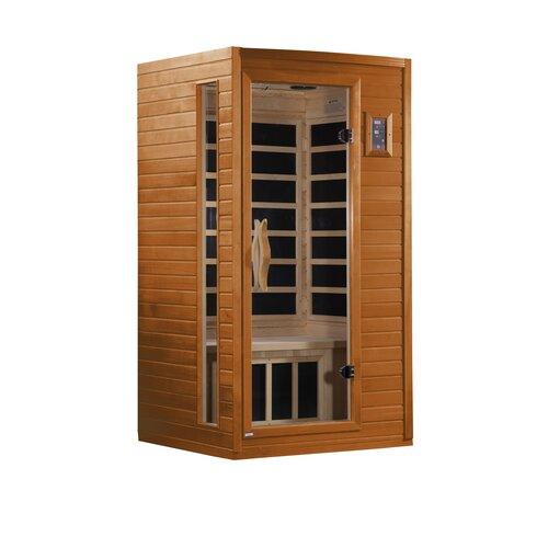 dynamic infrared alicante 1 2 person corner far infrared sauna reviews wayfair. Black Bedroom Furniture Sets. Home Design Ideas