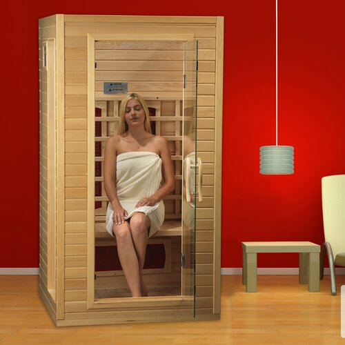 indoor infrared sauna portable saunas residential steam bath heated fir room ebay. Black Bedroom Furniture Sets. Home Design Ideas