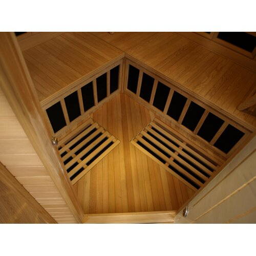 Dynamic Infrared Grand 2-3 Person Corner Carbon FAR Infrared Sauna ...