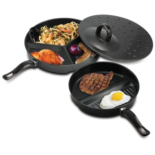 3 Piece Sectioned Cooking Pan Set