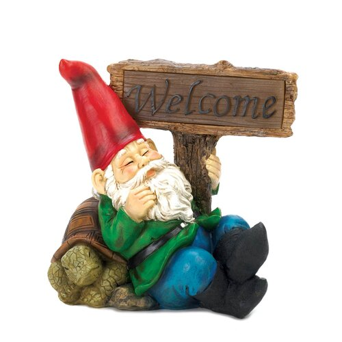 Light-Up Welcome Garden Gnome