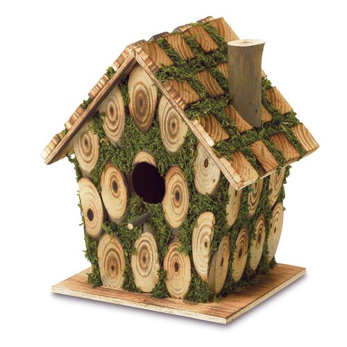 Zingz & Thingz Mossy Wood Birdhouse