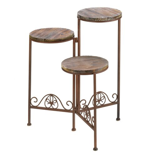 Zingz & Thingz Antiqued Tri-Level Plant Stand