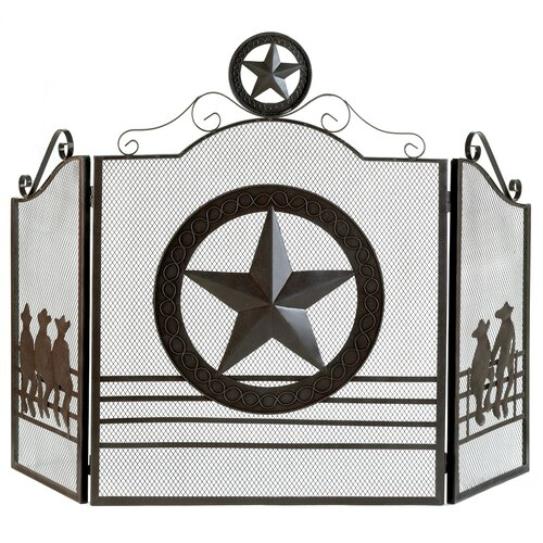 Zingz & Thingz Western Metal Fireplace Screen