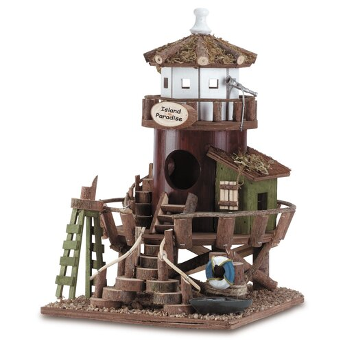 Zingz & Thingz Seaside Station Free Standing Birdhouse
