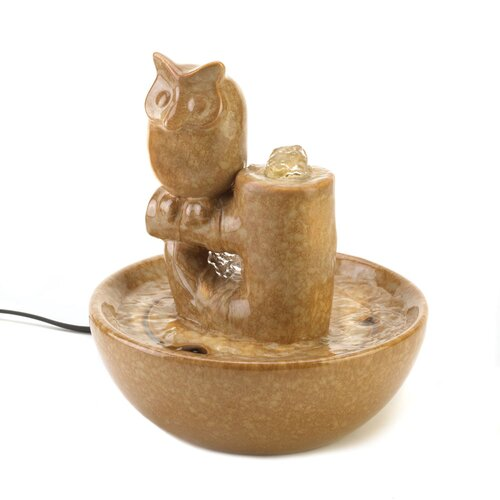 Hoot Ceramic Tabletop Fountain