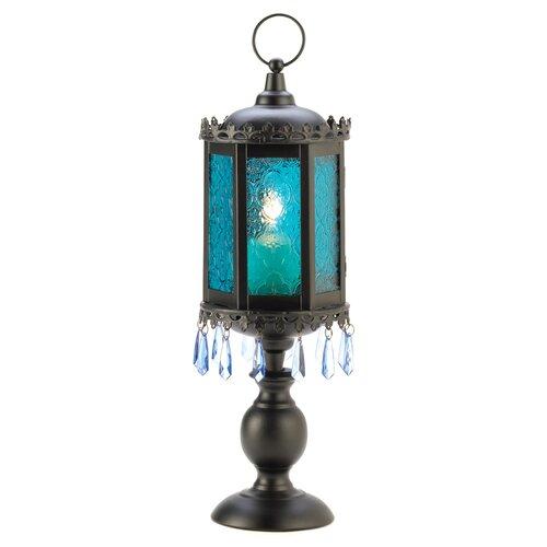 Zingz & Thingz Goblet Iron and Glass Lantern