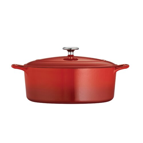 Enameled Cast Iron 7-qt. Oval Dutch Oven