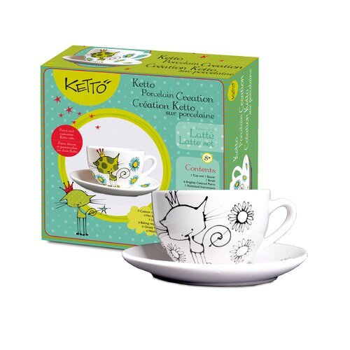 Ketto; Ketto Design Paint-It-Yourself Cat Latte Set