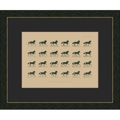 Melissa Van Hise Muybridge Riders lll Framed Graphic Art