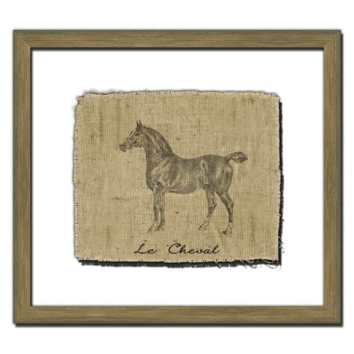 Horse on Linen II Framed Graphic Art
