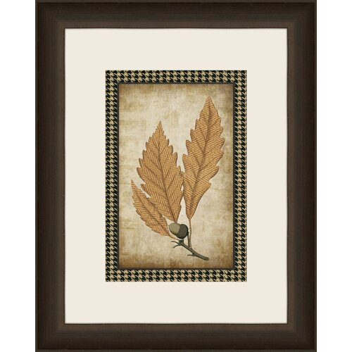 Houndstooth Leaves III Framed Graphic Art