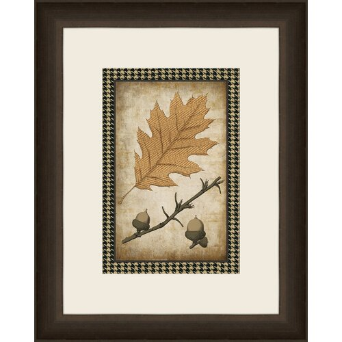 Houndstooth Leaves IV Framed Graphic Art