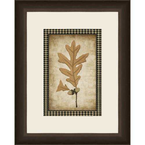 Houndstooth Leaves VI Framed Graphic Art