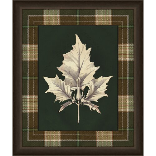 Leaves in Plaid II Framed Graphic Art