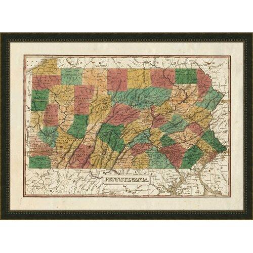 Pennsylvania Framed Graphic Art