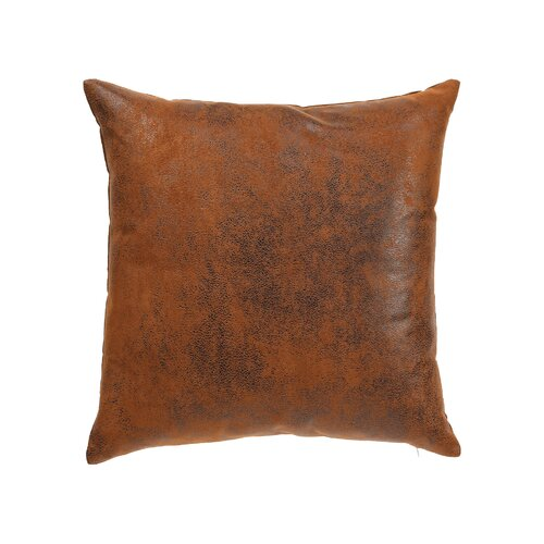 Throw Pillows Faux Leather : Faux Leather Decorative Pillow Wayfair