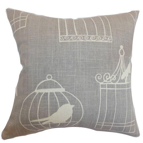 The Pillow Collection Alconbury Birds Linen Pillow