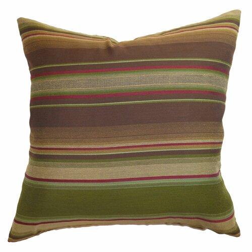 The Pillow Collection Neville Stripes Silk Pillow