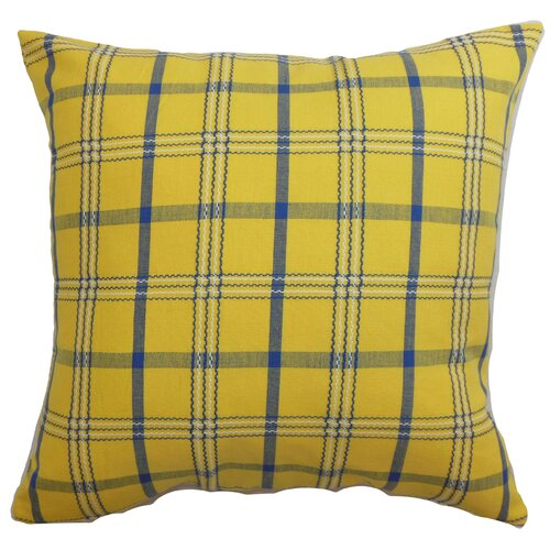 The Pillow Collection Varden Plaid Cotton Pillow
