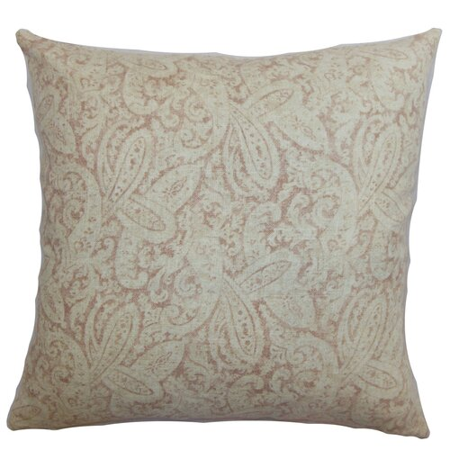The Pillow Collection Benigna Paisley Cotton Pillow