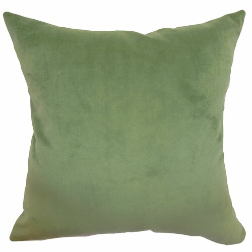 The Pillow Collection Generys Plain Velvet Pillow