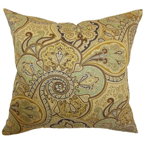 The Pillow Collection Saewara Paisley Cotton Pillow