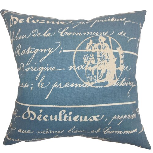 Saloua Typography Cotton Pillow