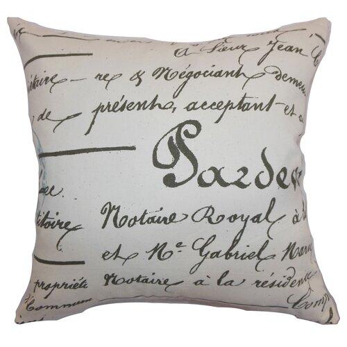 Saloua Typography Cotton Pillow