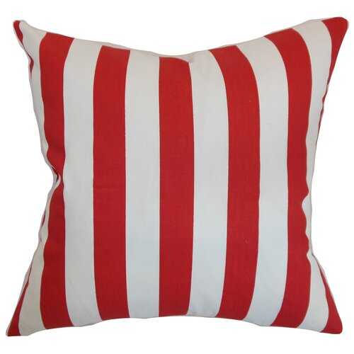 The Pillow Collection Ilaam Stripes Cotton Pillow