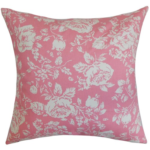 Rosebud Floral Pillow