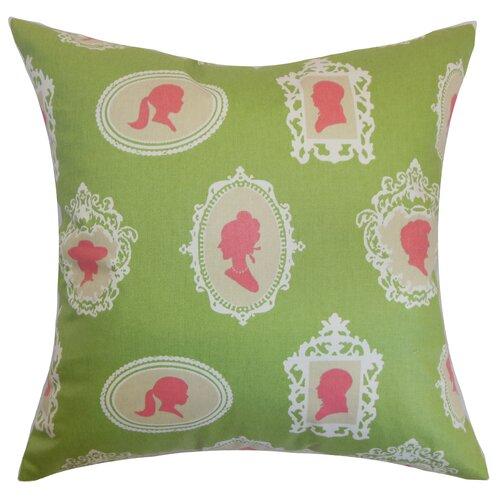 The Pillow Collection Camay Cameo Cotton Pillow