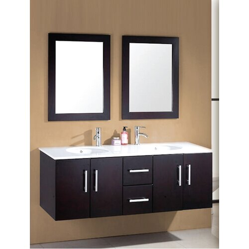 sycamore 58 double bathroom vanity set