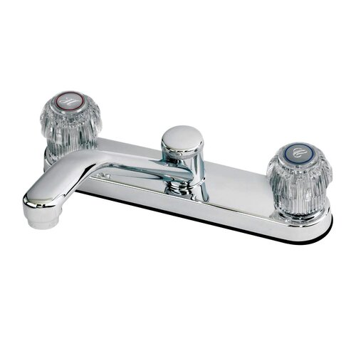 Aqueous Faucet Eco Double Handle Centerset Kitchen Faucet with Optional Side Spray