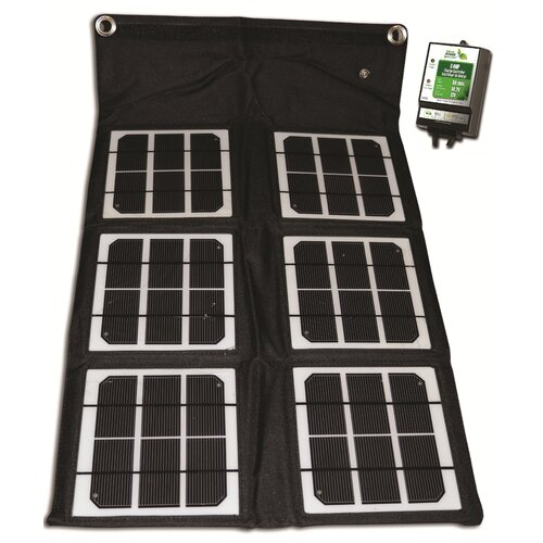 Nature Power 18-Watt Solar Folding Monocrystalline Solar Panel with Charge Controller