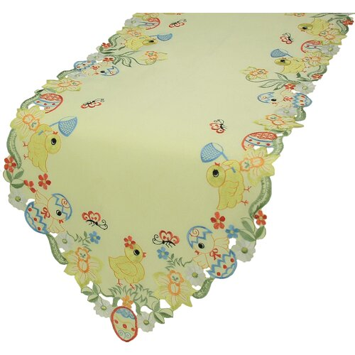 Spring Baby Chicks Table Runner