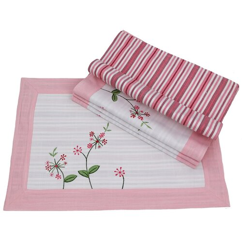 Whimsy Embroidered Pattern Placemat (Set of 4)