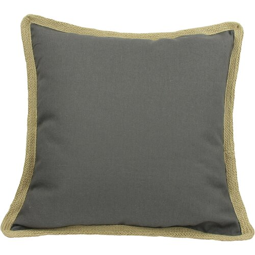 Classic Jute Trimmed Solid Pillow